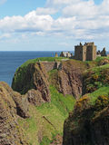 Dunnottar castle, Scotland north east coastline. Dunnottar is a ruined medieval fortress Royalty Free Stock Photography