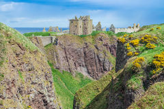 Dunnottar Castle Stonehaven, Aberdeen, Royalty Free Stock Images