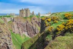 Dunnottar kasztel Stonehaven, Szkocja - Zdjęcie Stock