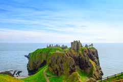 Dunnottar scottish medieval fortress or castle. Highlands of Scotland Royalty Free Stock Photos