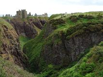 Dunnottar slott i Stonehaven Fotografering för Bildbyråer