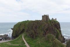 Dunnottar slott i Stonehaven, Aberdeen, Skottland, UK Fotografering för Bildbyråer