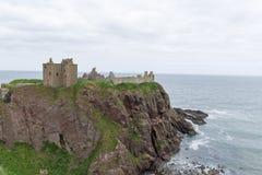 Dunnottar slott i Stonehaven, Aberdeen, Skottland, UK Arkivfoto