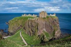 Dunnottar slott Stonehaven, Aberdeen, Arkivbild