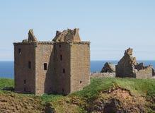 Dunnottar slottfästning, Skottland Royaltyfria Foton