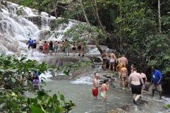 Dunns flodnedgångar i Ocho Rio de Janeiro, Jamaica Royaltyfri Fotografi