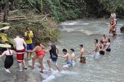 Dunns flodnedgångar i Ocho Rio de Janeiro, Jamaica Royaltyfria Foton