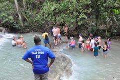 Dunns flodnedgångar i Ocho Rio de Janeiro, Jamaica Arkivfoton