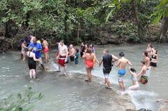 Dunns flodnedgångar i Ocho Rio de Janeiro, Jamaica Arkivbilder