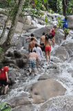 Dunns River Falls in Ocho Rios, Jamaica Royalty Free Stock Images