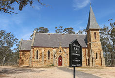 Dunolly's St Mary's Catholic church (1871), a Gothic Revival building made of sandstone and granite Stock Photography