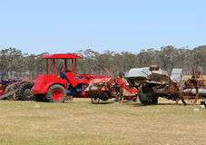 Dunolly's vintage tractor and engine rally hosted many historic engines and machines, tractors and cars. DUNOLLY, VICTORIA, AUSTRALIA - October 4, 2015: Dunolly' Royalty Free Stock Photography