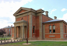 DUNOLLY, VICTORIA, AUSTRALIA-September 15, 2015: Built as the Dunolly Municipal Chambers it was converted to a courthouse in 1862 Stock Photos