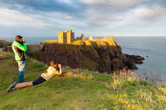 dunottar城堡苏格兰 免版税库存照片