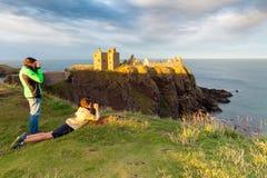 dunottar slott Skottland Royaltyfria Foton