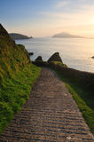 Dunquin. Walkway leading to Dunquin Pier, Co.Kerry, Ireland Stock Image