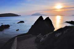 Dunquin. Walkway leading to Dunquin Pier, Co.Kerry, Ireland Royalty Free Stock Images