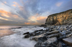 Dunraven Bay at Dusk Royalty Free Stock Photos