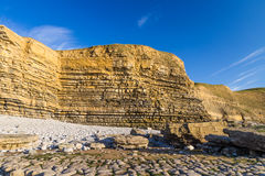 Dunraven Bay, or Southerndown beach, with limestone cliffs. Carboniferous limestone cliffs of Southerndown Beach or Dunraven Bay, afternoon light. Used as Bad Stock Photos