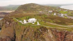 Dunree hoofdvuurtoren Donegal Ierland stock footage