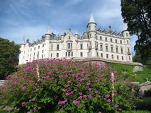Dunrobin Castle. On the east coast of Scotland, seen from its garden royalty free stock images