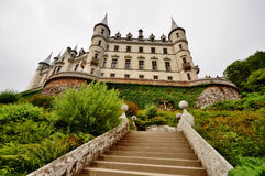 Dunrobin Castle, Scotland. Dunrobin Castle in Scotland. This was taken from the stairs leading to the garden royalty free stock image