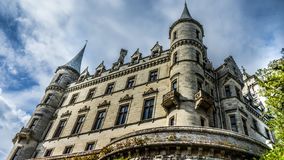 Dunrobin castle in Scotland stock image