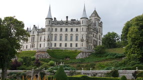 Dunrobin slott i Förenade kungariket Arkivbild