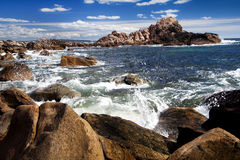 dunsborough附近的礁石 图库摄影
