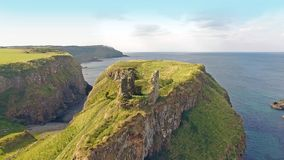 Dunseverick Castle Atlantic Ocean Antrim, Northern Ireland. Dunseverick Castle Atlantic Ocean County Antrim, Northern Ireland stock images