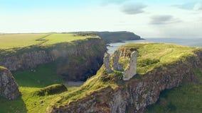 Dunseverick Castle Atlantic Ocean Antrim, Northern Ireland. Dunseverick Castle Atlantic Ocean County Antrim, Northern Ireland stock image