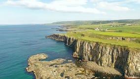Dunseverick Castle Atlantic Ocean County Antrim, Northern Ireland. Dunseverick Castle Atlantic Ocean in County Antrim Northern Ireland stock photos