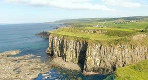 Dunseverick Castle Atlantic Ocean County Antrim, Northern Ireland. Dunseverick Castle Atlantic Ocean in County Antrim Northern Ireland royalty free stock photography