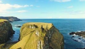 Dunseverick Castle Atlantic Ocean Antrim, Northern Ireland. Dunseverick Castle Atlantic Ocean County Antrim, Northern Ireland royalty free stock image