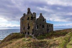 Dunskey kasztel blisko Portpatrick, Szkocja, Zlany Kindom zdjęcie royalty free