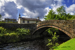 Dunsop Bridge. The arched Dunsop bridge in the forest of Bowland in Lancashire, England Stock Images