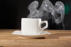Dunst över en kopp royaltyfri foto