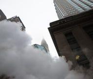 Dunst från gatatunnelbanan i NYC Royaltyfri Fotografi