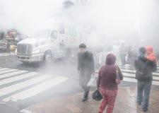 Dunst från gatatunnelbanan i NYC Royaltyfri Bild
