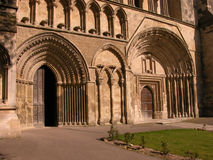 Dunstable Priory Doors. The Entrance doors to Dunstable Priory Church in Bedfordshire England royalty free stock image