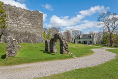 Dunstaffnage Castle. On the north west coast of Scotland in Argyll. This impregnable fortresss was constructed in the 13th century and has historic connections Royalty Free Stock Images