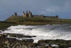 dunstanburgh замока Стоковое фото RF