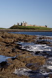 Dunstanburgh Castle. From Craster, Northumberland, UK royalty free stock images