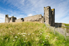 Dunstanburgh Castle close up Royalty Free Stock Photography
