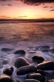 Dunstanburgh Castle coastline Stock Photography