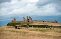Dunstanburgh castle stock image