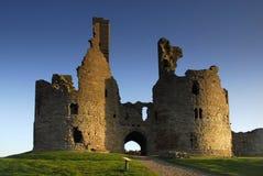 Dunstanburgh Castle gatehouse stock images