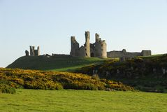 Dunstanburgh Castle gatehouse Royalty Free Stock Image