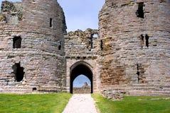 Dunstanburgh Castle gates Stock Photo