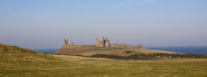 Dunstanburgh castle ruins Royalty Free Stock Photo